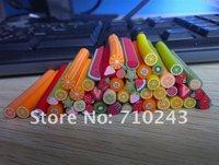 New 50PCS 3D Mix Fimo Clay Slice Nail Art Tips UV Acrylic Decoration Wheel