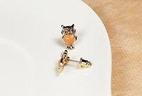 Min.order is $15 (mix order) Fashion jewelry mini shiny owl earrings R3318