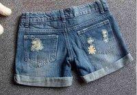 Lady denim shorts, women's jeans shorts, hot sale ladies' denim short pants size:S M L, XL, XXL