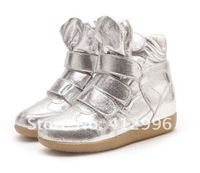Женские кеды Isabel Marant Genuine Leather Boots Height Increasing Sneakers Shoes Color Golden /Silver