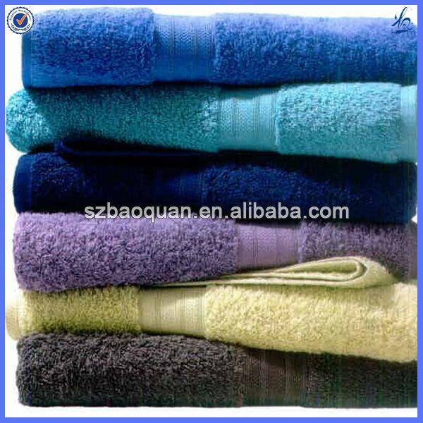 Solid color 100% organic cotton towel