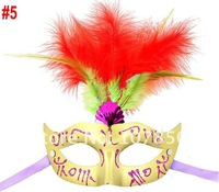 Маска для вечеринок 50pcs Feather&Half Masks Masquerade Masks halloween mask Party Mask