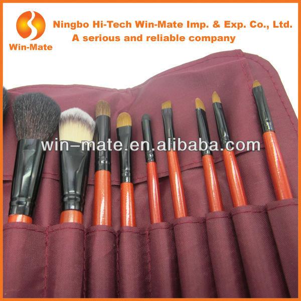 Hot, Purple 10 Pcs Make Up Tools, Bag For Makeup Brush