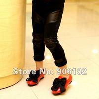 Брюки для девочек 5pcs/lot girls leather legging pants girl's leggings jeans pant childrens black trousers kids bottom trousers baby wear