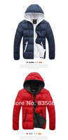 Men waterproof  thickening cotton-padded clothes coat Winter lovers cotton-padded jacket coat