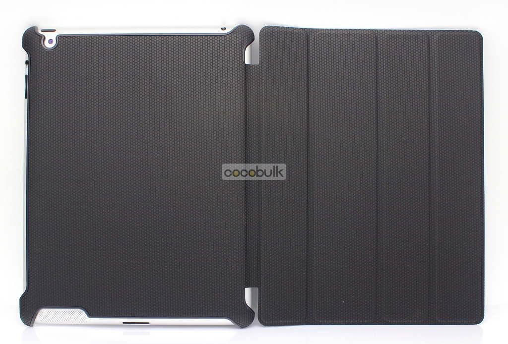 DHL FREE SHIPPING for new ipad 3 PU Leahter Smart Cover Case sleep wake function Multi Stand case leather for new i pad 2  3