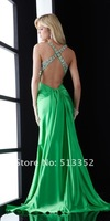 Free Shipping 2012 new design bridesmaid prom ball gown formal evening dress