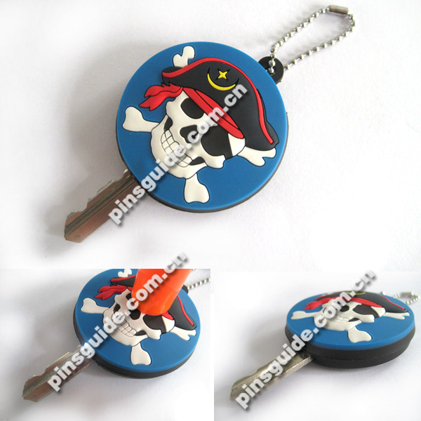 Promotion Personalised Round PVC Key Head Cover From China Manufacturer