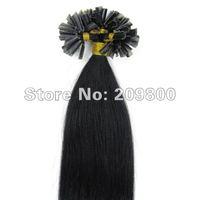 """Волосы для наращивания Mumaren 100s/16""""/18"""" 20 /22 #01/jet 100s"""
