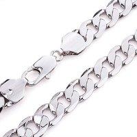 Колье-цепь fashion jewelry heavy men's 14k white gold GF necklace fine chain 20.5inch