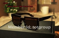 1PC 2012 Code Programmer Pixelated 8-Bit Black Sunglasses CPU Gamer Geek Designer Sunglasses