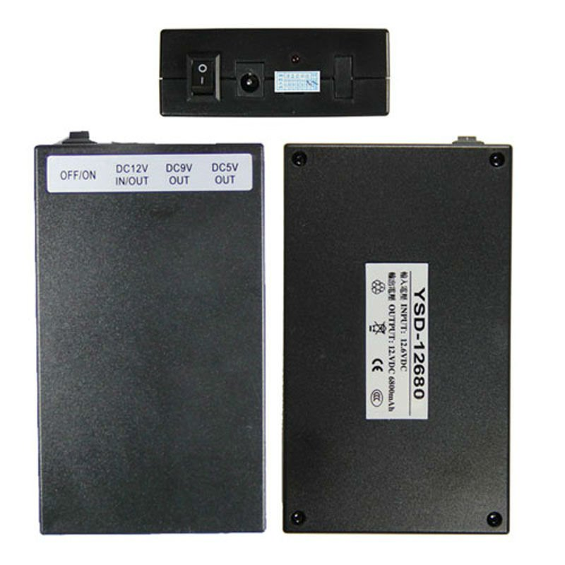12V 6800 mah rechargeable external ups battery