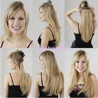 Нарежьте Шиньон, парик 5 клипов, 5 клипов staight длинный Шиньон, 1 шт, цвет 1b #, 110 г, 60 см