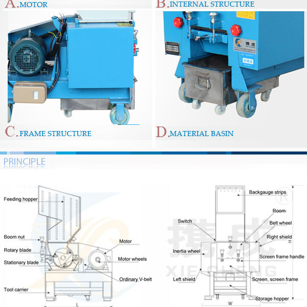 plastic film crushing and recgcling machine