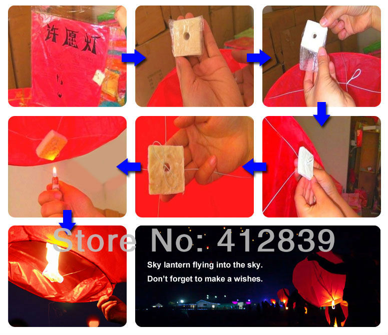 Sky lanterns operating instructions