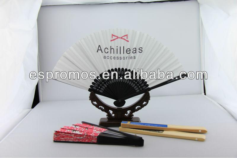Stock Sell!! Plain white wedding paper fan