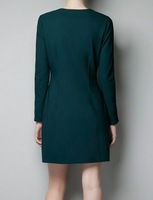 2013 Latest arrived quality casual women dresses wholesale.Hot sale fashion female long sleeves design dress free shipping H006