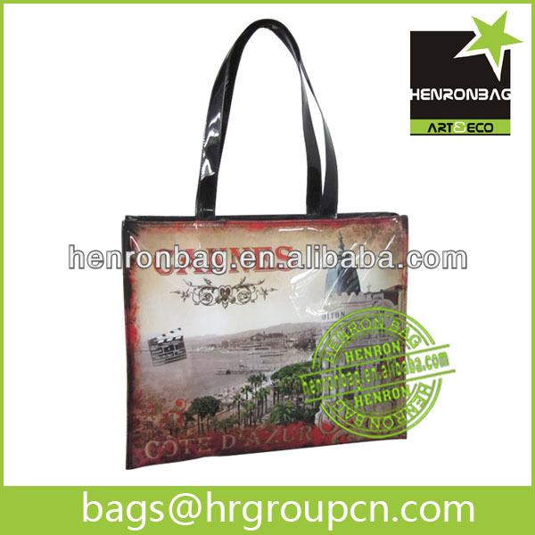 2014 photo print PVC tote bag