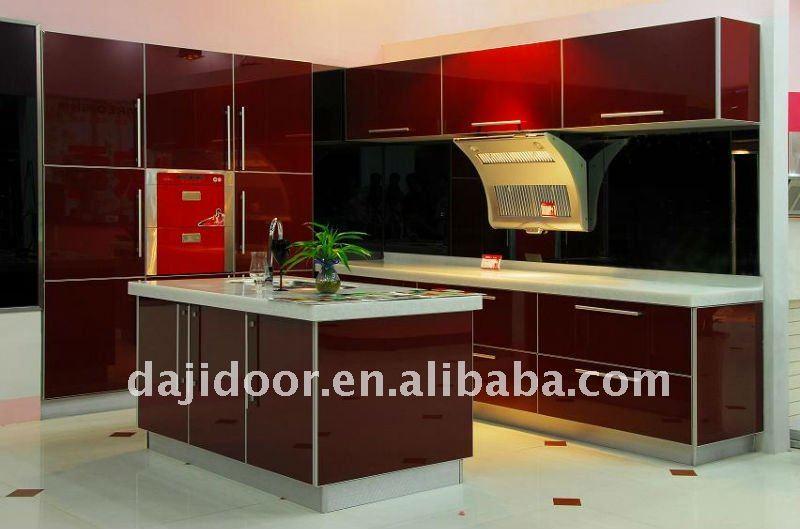 European MDF Modern Kitchen Cabinet DJK203, View Kitchen Cabinet, Daji Produ -> Armario De Banheiro Vinho