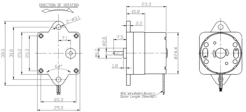 Factory in Ningbo China High reflective 12v/24v pmdc motor for industrial