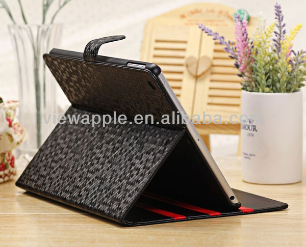 2013 Luxury Bling Bling Diamond Pattern PU Leather Case for Apple ipad air