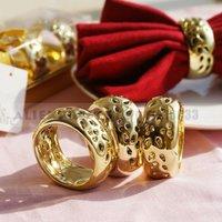 Золото керамические Салфетка кольцо и пресс-папье свадьба пользу для украшения свадьбы способствует вещи поставок