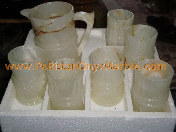 FINE QUALITY o<em></em>nYX WATER SETS AND GLASSES HANDICRAFTS