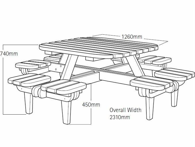 Emejing table de jardin en bois plan photos amazing - Table exterieur en bois ...