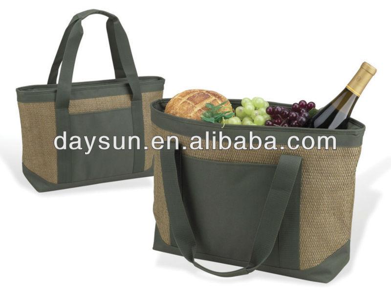 Large Everyday Cooler Tote bag, insulated cooler bag, bottle cooler