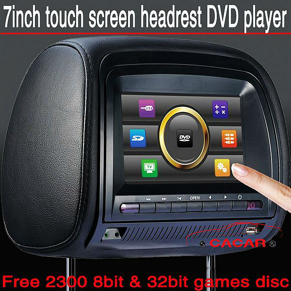 Touch screen 7 inch Car DVD player, USB,SD,MP3,MP4player