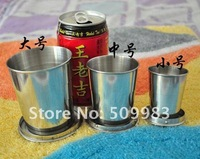 Stainless steel portable outdoor mini folding cup / travel telescopic cup cup