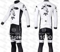 Free shipping!2011 Kung Fu Panda white winter cycling wear long set thermal cycle  pants/long sleeve bike clothes/bicycle jersey