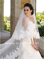 2012 best selling New 2 Layer Cathedral Length Wedding Veil