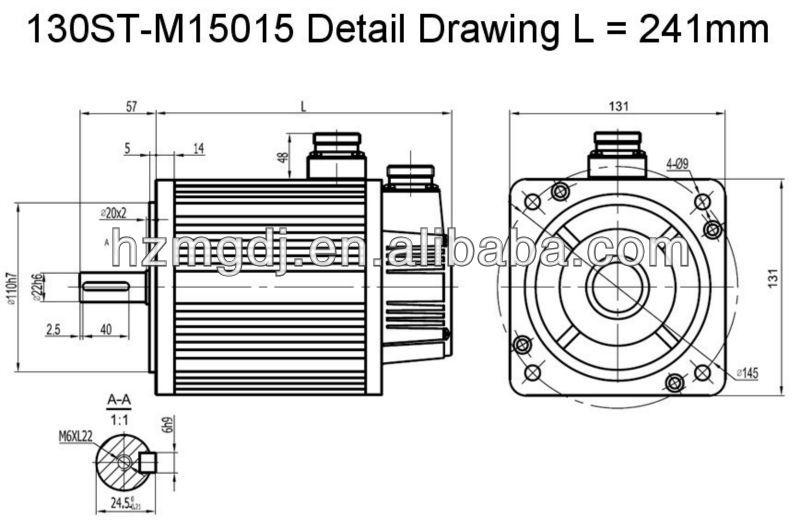 130ST-M15015 Detail Drawing