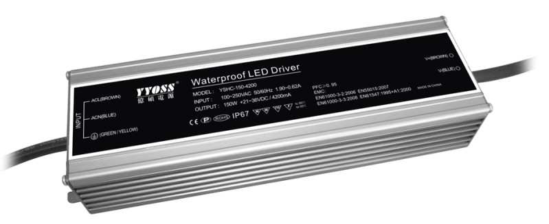 Pfc0.95/IP67 EMC LVD 150W 3500ma LED driver high efficiency 90%