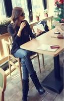 lasion «Валентина Корейский хлопок топы batwing мини-платье с длинным рукавом женская одежда #5030