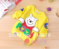 High quality 2012 winter baby wear thick hoodies winne pooh cartoon sweatshirts 4pcs/lot children clothing free shipping