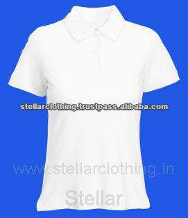 Ladies Polo T-shirt - White