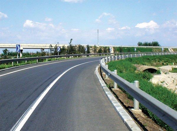 YX80-340 Sample of Steel Highway Guardrail