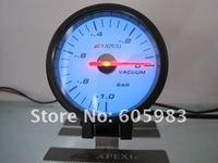 """Панельный прибор для мотоциклов 2.5"""" 60 MM AP vacuum gauge black and white face"""