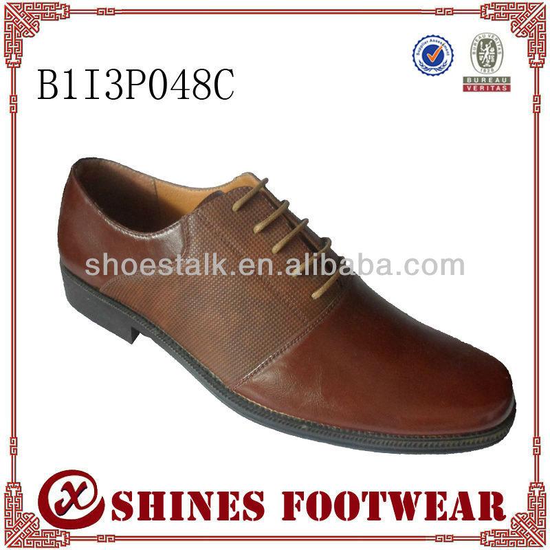 New design durable lace -up Derbies men dress shoe