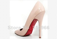 Туфли на высоком каблуке 2012 hot selling Womens Fashion High Heel Shoe red sole lady pointed pumps ladies high heels woman shoes big sizes