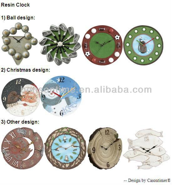 sports wall clock, handmade clock