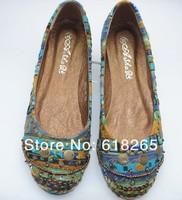 Женская обувь на плоской подошве 2013 Bohemian national wind beaded flat leisure ladies shoes 35-41