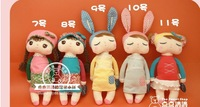 free shipping 40 pcs Hot METOO Plush Toys Rabbit bee cartoon baby Angela doll children Gifts bag 30cm fast delivery