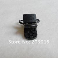 DHL 200pcs Hot Black D shape Plastic Clip for 20mm ribbon, plastic Pacifier clip, Soother Clip