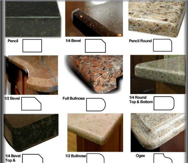 Кромка каменной столешницы
