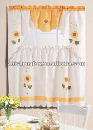 Cuisine rideau avec cantonni re rideaux id de produit - Modele rideau cuisine avec photo ...