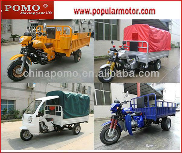 2013 Chinese Motorized Gasoline Popular 250CC Cheap Cargo Cabin Three Wheel Motorcycle
