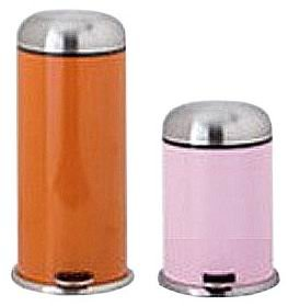 Pink Metal Kitchen Waste Bin with Stainless Steel Lid
